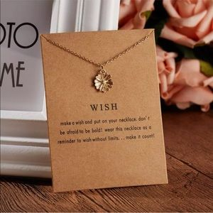 ❤️NEW❤️ Gold Dipped Wish Flower Necklace